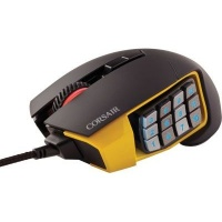 corsair scimitar pro optical mmo gaming mouse yellow accessory