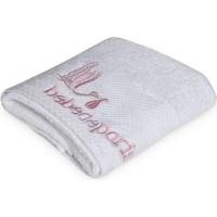 bebedeparis baby towel 45x92cm medium white and pink bath potty