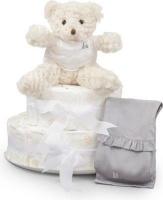 bebedeparis chic nappy cake size 2 3 6kg grey bag