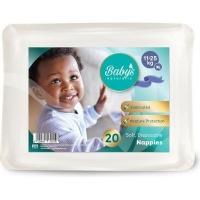 babys naturally disposable nappies xl 11 25kg 20 pack bag