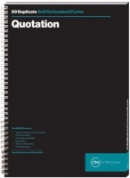 rbe a4 quotation duplicate spiral bound book of 3 other