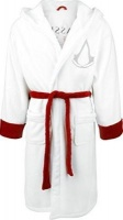 assassins creed robe with peaked hood white bath towel