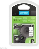 dymo rhino industrial tape flexible nylon 19 x 35 black on labeling system