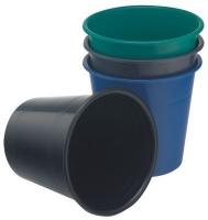bantex translucent pp round waste paper bin 10l smokey school supply