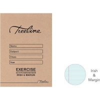 treeline irish margin exercise book a5 72 pages of 20 other