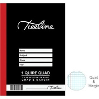 treeline quad margin 1 quire hardcover book a4 96 pages other