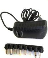raz tech universal ac dc adapter 1a black computer