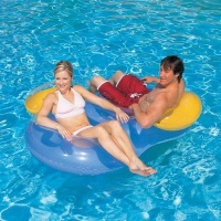 bestway double ring float colour may vary 188 x 117cm pools hot tubs sauna