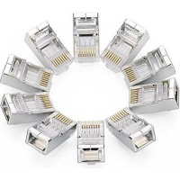 ugreen rj45 network crimp connector cat6 pack of 10 clear computer
