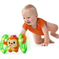 bright starts roll and glow monkey toy musical toy