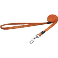 rogz alpinist fixed dog lead orange design collars leash