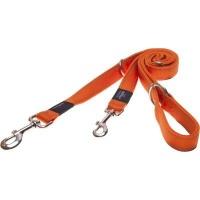 rogz utility multi purpose dog lead orange reflective collars leash
