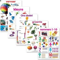 educat wall chart 5 pack early childhood afrikaans school supply
