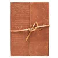 classic journal wrap closure leather fine binding other