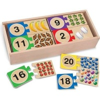 melissa and doug classic toys number puzzles learning toy