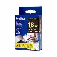 brother tz 344 p touch laminated tape gold on black labeling system