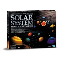 4m kidz labs 3d solar system mobile making kit glow in the learning toy