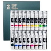turner acrylic gouache paint 20ml 18 colour set art supply