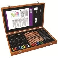 derwent academy wooden box set art supply