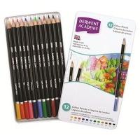 derwent academy colour set of 12 in tin art supply