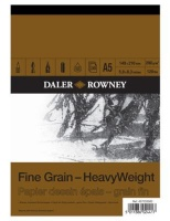 daler rowney a5 fine grain heavyweight paper pad 200gsm 30 art supply