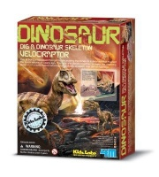 4m kidz labs dig a velociraptor learning toy