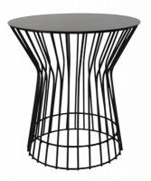fundi living drum side table black living room furniture