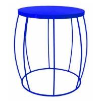 fundi living barrel side table blue made to order living room furniture