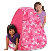 kiddies play tent pink butterfly sport outdoor toy