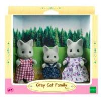 Sylvanian Families Gray Cat Family