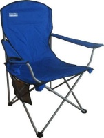 bushtec oversized folding chair blue 120kg camping