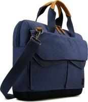 case logic lodo satchel carry bag for 14 notebooks blue computer