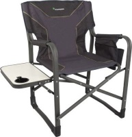 kaufmann directors chair with steel table bluegrey camping