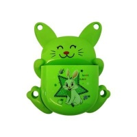 bunny toothbrush holder green bathroom accessory