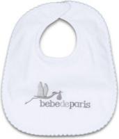bebedeparis baby cotton bib and grey feeding