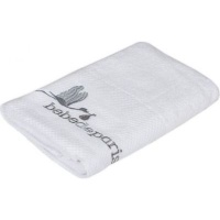 bebedeparis baby towel 70x135cm large white and grey bath potty