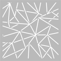 kaisercraft template geo lines design 6x6 office machine