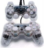 roky 2 piecess usb gamepad double shock for computer computer