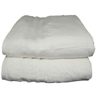 bunty surplus design 7 bath sheet 100x170cm 1100gms white bath towel