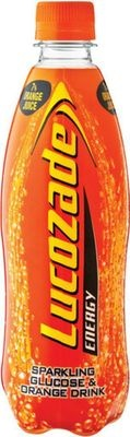 Lucozade Energy Drink Bottle Orange