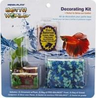 penn plax betta world decorating kit