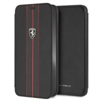 Ferrari Pu Leather Flip Case iPhone XS MAX Black