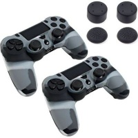 piranha 2 x skins and 8 grips for playstation 4 ps4 accessory