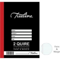 treeline 2 quire feint margin hardcover book a4 192 pages other