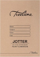 treeline scribbler feint margin soft cover a4 72 pages of other