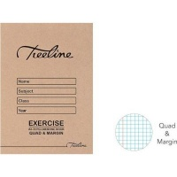 treeline quad margin exercise book a5 72pages of 20 other