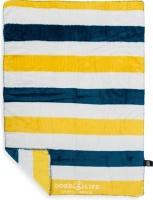 dogs life broad stripe blanket navy blanket