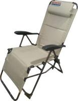 bushtec lounger chair 7 position adjustment 130kg camping