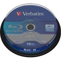 verbatim hard coat 6x bd r sl 10 pack on spindle 25gb computer