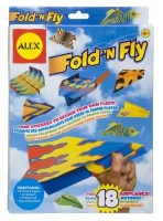 alex toys fold n fly paper airplanes kit arts craft